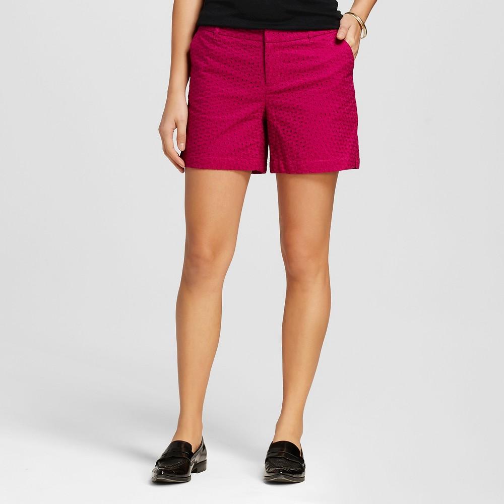 Womens Eyelet Chino Shorts Springtime Pink Eyelet 6 - Merona