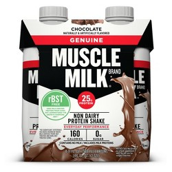 Muscle Milk Genuine Protein Shake - Chocolate - 11 fl oz/4pk