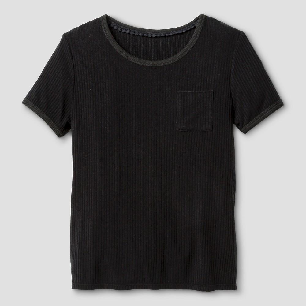 Girls' Rib Knit T-Shirt Art Class – Black S, Girl's