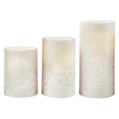 LED Candle Set 3pc Green - Apothecary
