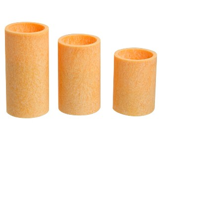 3pc LED Candle Set Coral - Apothecary®