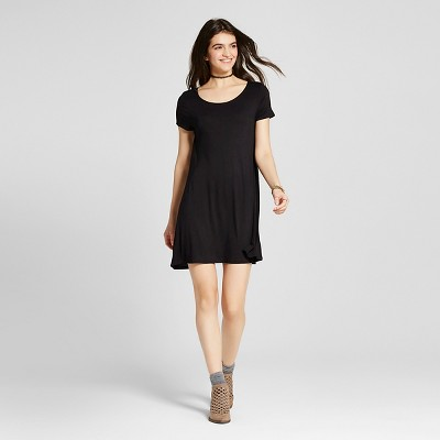 Black t-shirt style dress