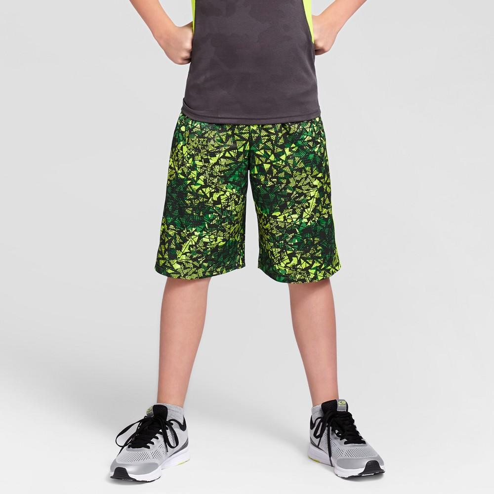 Boys Printed Lacrosse Shorts - C9 Champion Green Print L