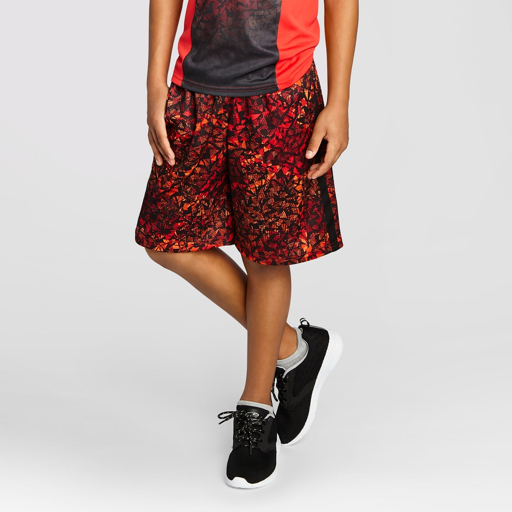 Boys' Printed Lacrosse Shorts - C9 Champion Red Print XS