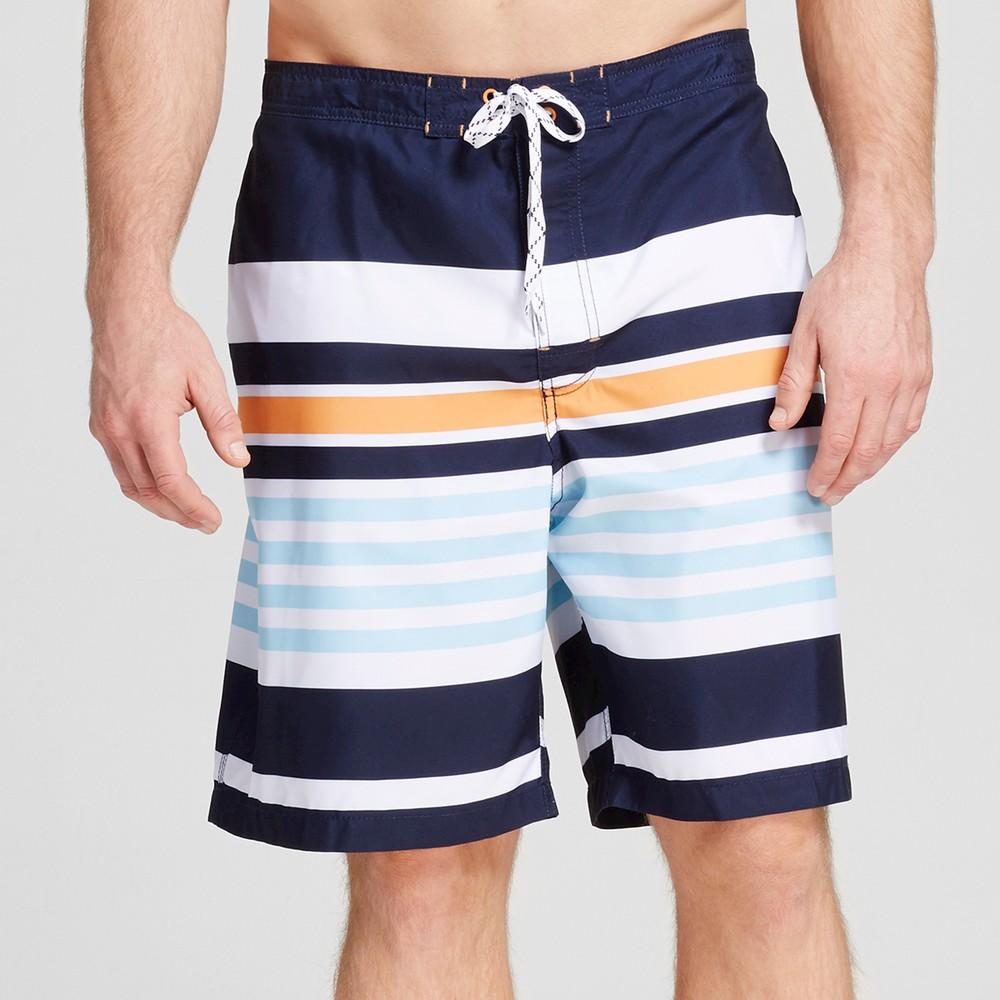Mens Big & Tall Stripe Swim Trunks - Merona Navy 5XB, Blue