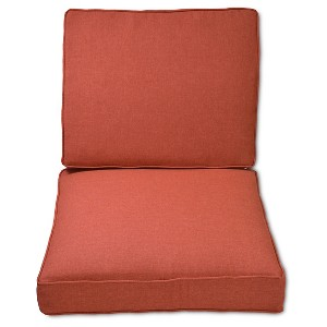 Halsted Outdoor Armless Sectional Cushion Set - Orange - Threshold
