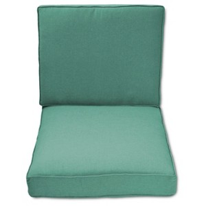 Halsted Outdoor Armless Sectional Cushion Set - Turquoise - Threshold