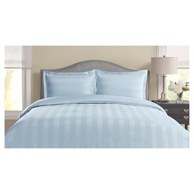 325tc tuxedo woven stripe 100 pima cotton duvet set target for Pima cotton comforter