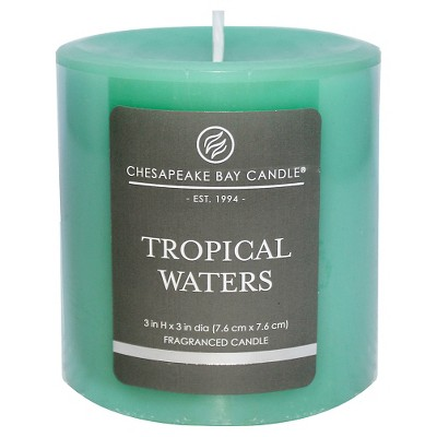Satin Pillar Candle Tropical Waters 3 x3  - Chesapeake Bay Candle®