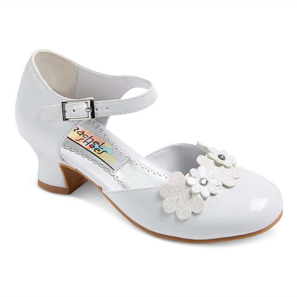 Girls Corrine Quarter Strap Gladiator Sandals White Patent 13 - Rachel Shoes