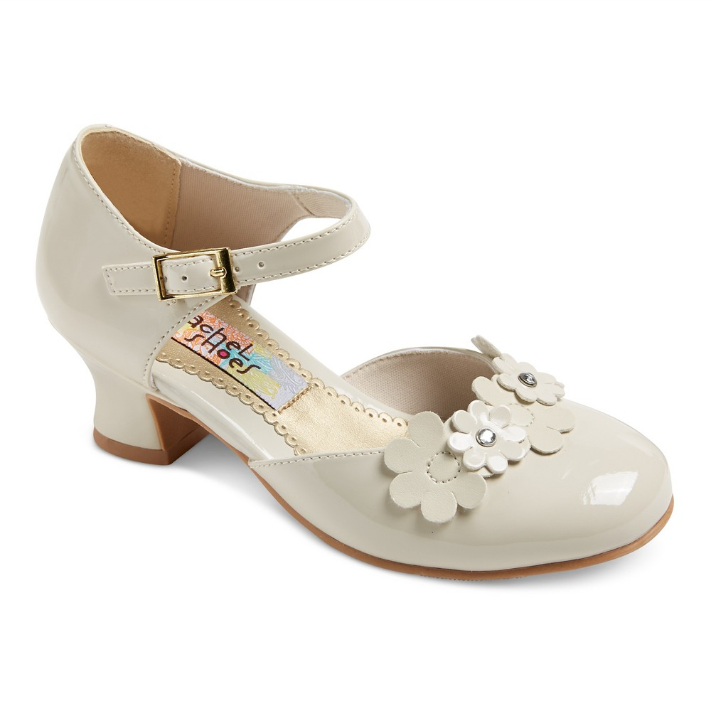 Girls Alexis Dressy Mary Jane Shoes Bone (Ivory) Patent 4 - Rachel Shoes