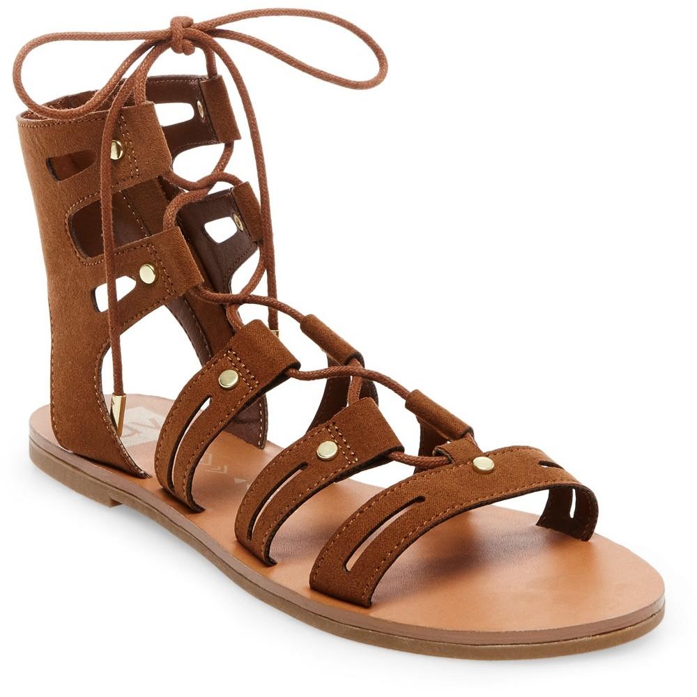 Womens dv Gracelyn Lace Up Gladiator Sandals - Saddle Brown 9