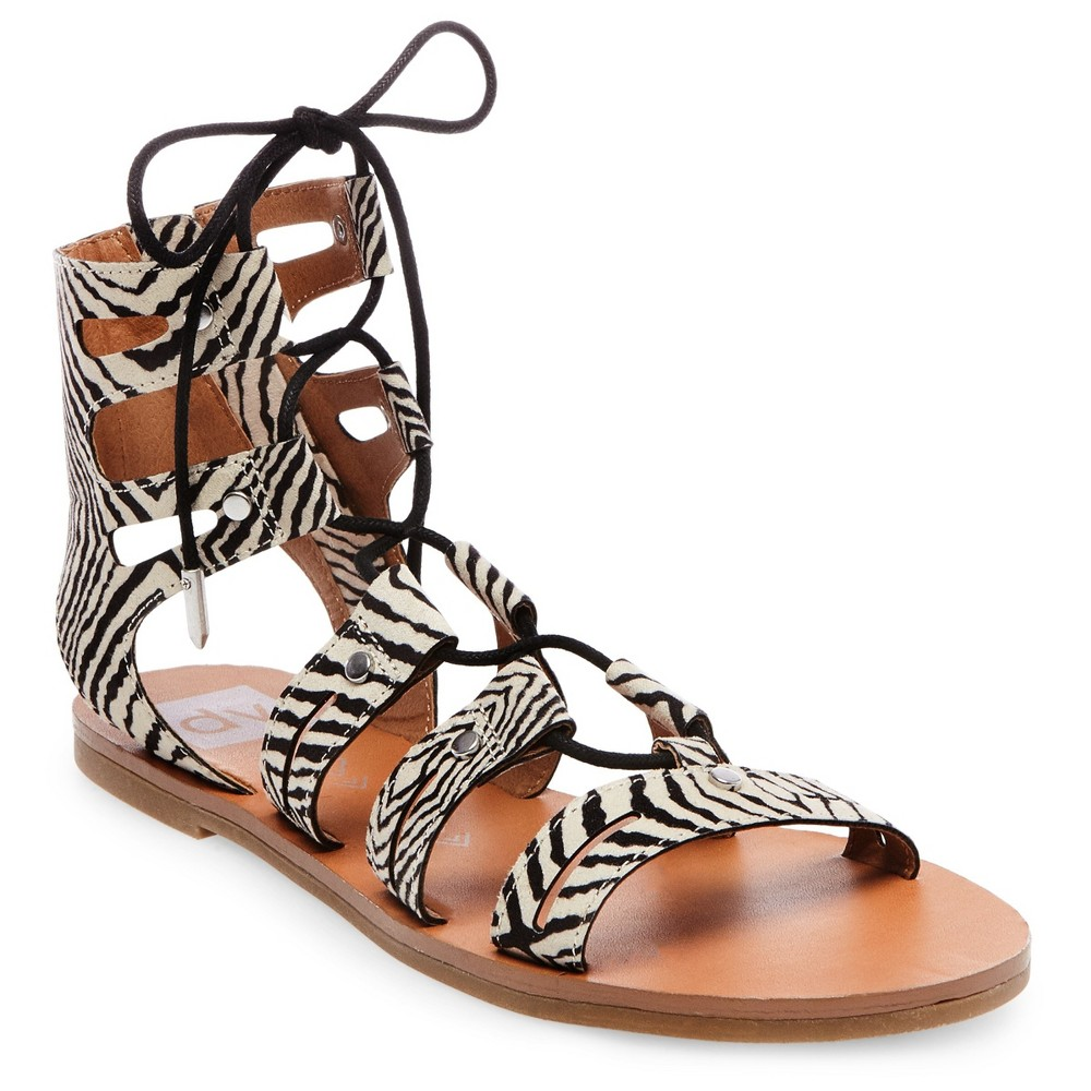 Womens dv Gracelyn Lace Up Gladiator Sandals - 8, Ivory