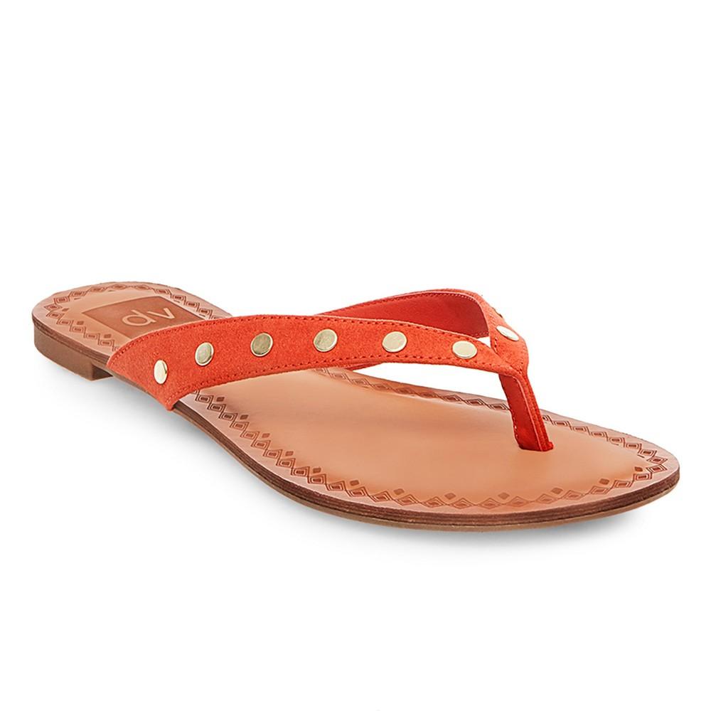 Womens dv Bel Flip Flop Sandals - Red 7