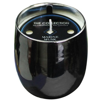 Jar Candle Marine Musk Gunmetal 9.5oz - THE COLLECTION by Chesapeake Bay Candle®