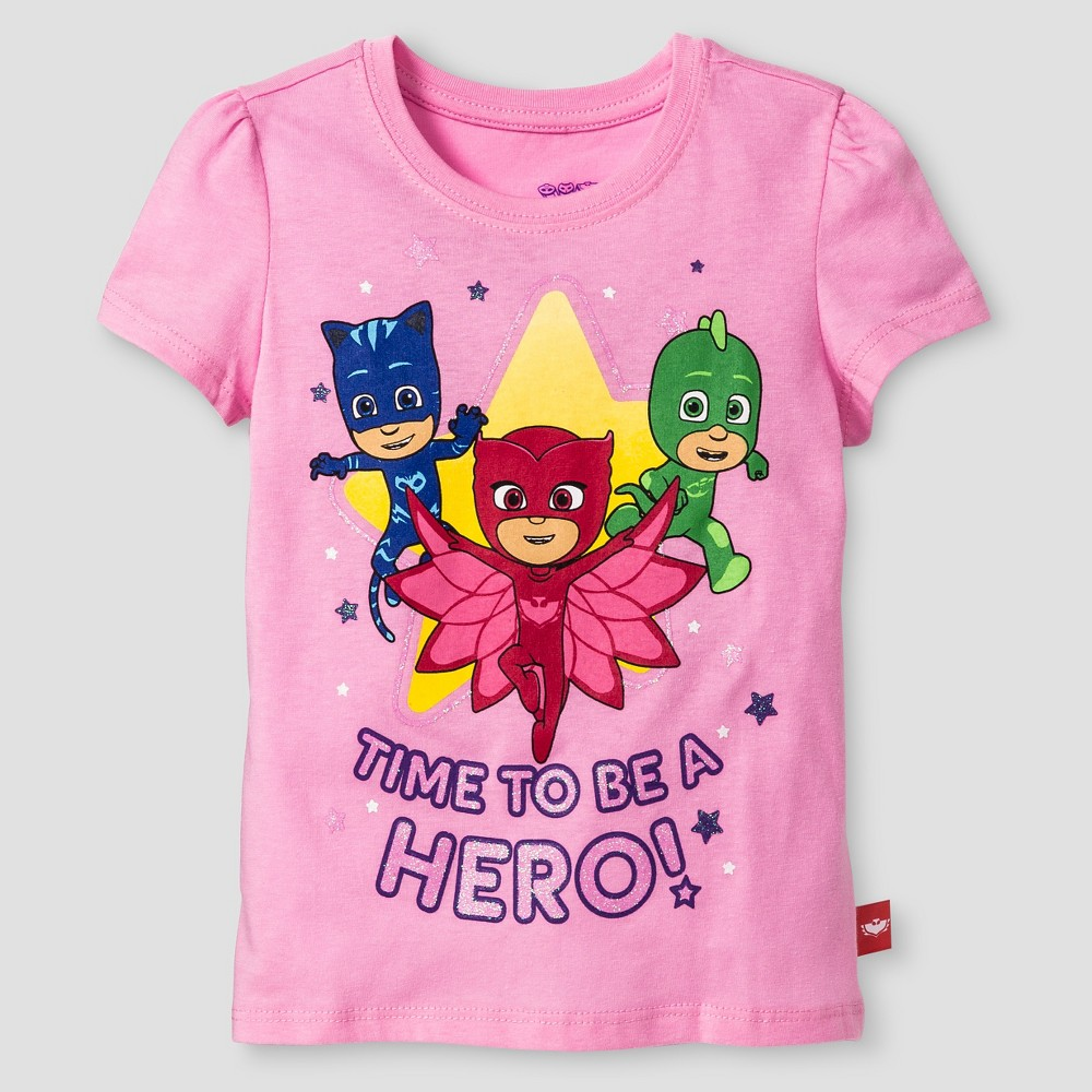 Toddler Girls PJ Masks Short Sleeve T-Shirt 3T - Pink