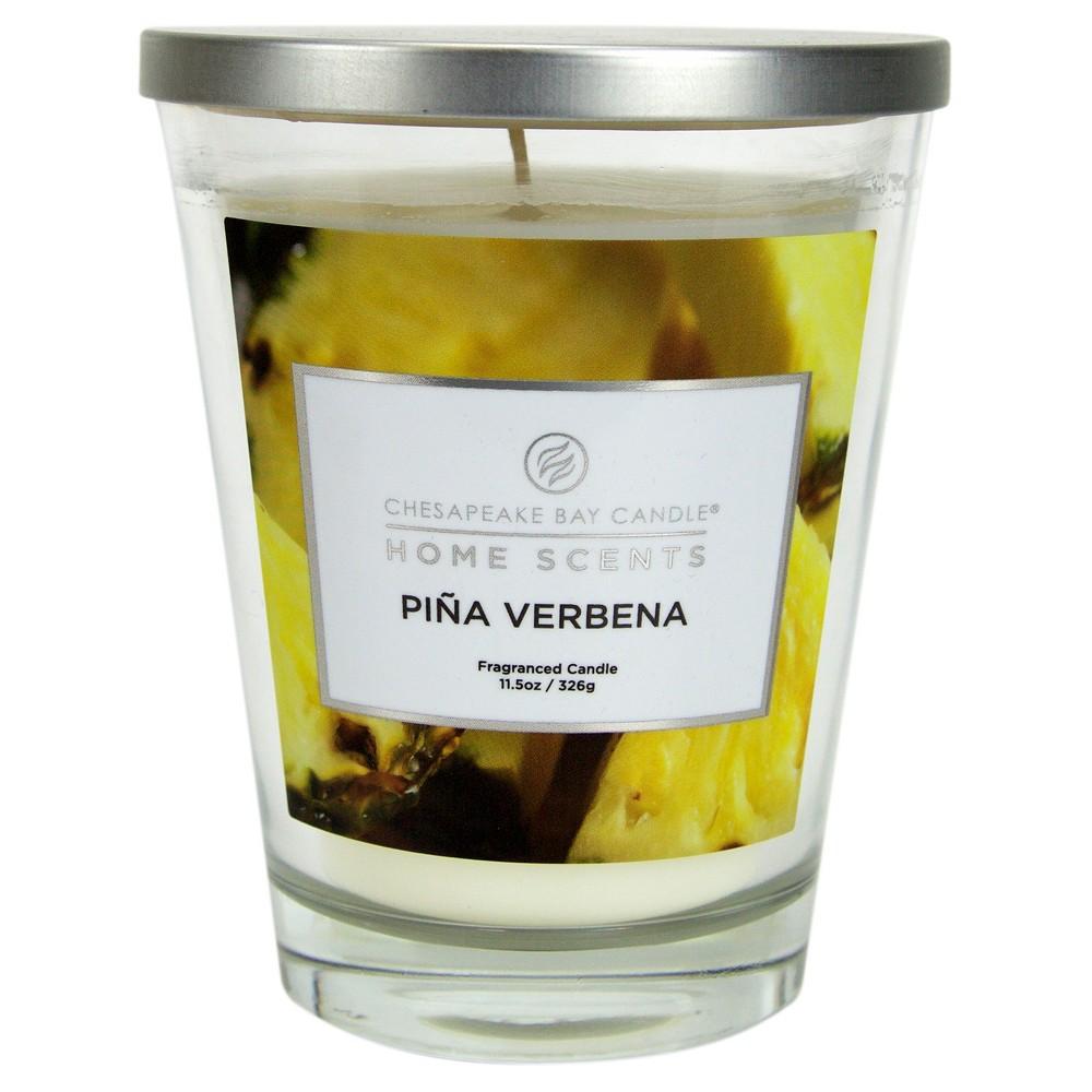 Jar Candle Piña Verbena 11.5oz - Home Scents by Chesapeake Bay Candles, Orange