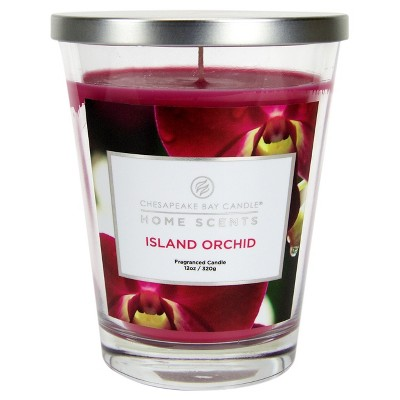 Jar Candle Island Orchid 11.5oz - Home Scents by Chesapeake Bay Candles®