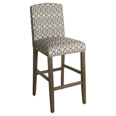 Curved Top - 29 - Bar Stool - Brindle Taupe - HomePop
