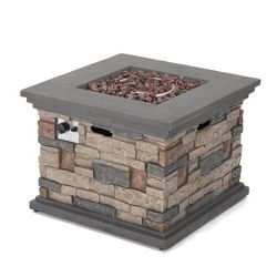 Hoonah 32 Quot Stone Mgo Gas Fire Pit Circular Natural