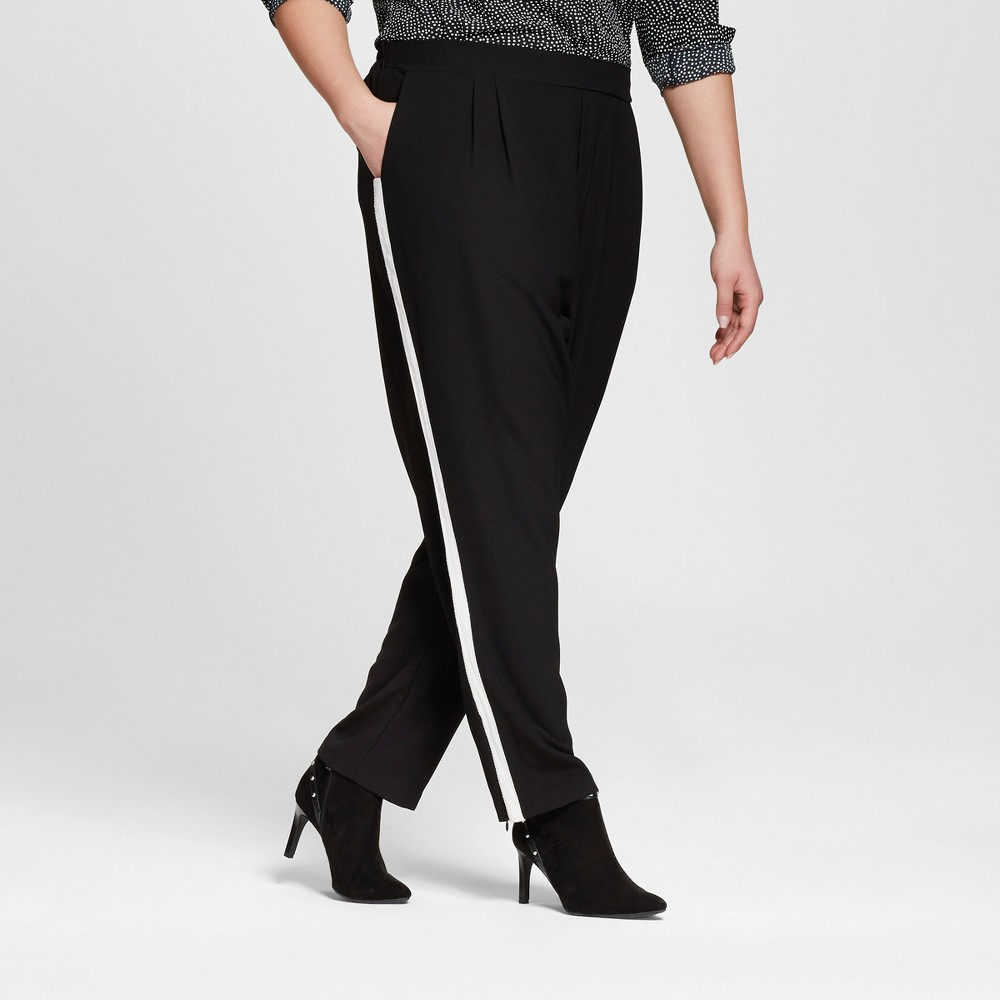 Women's Plus Size Woven Jogger Pant Black 1X – 3Hearts