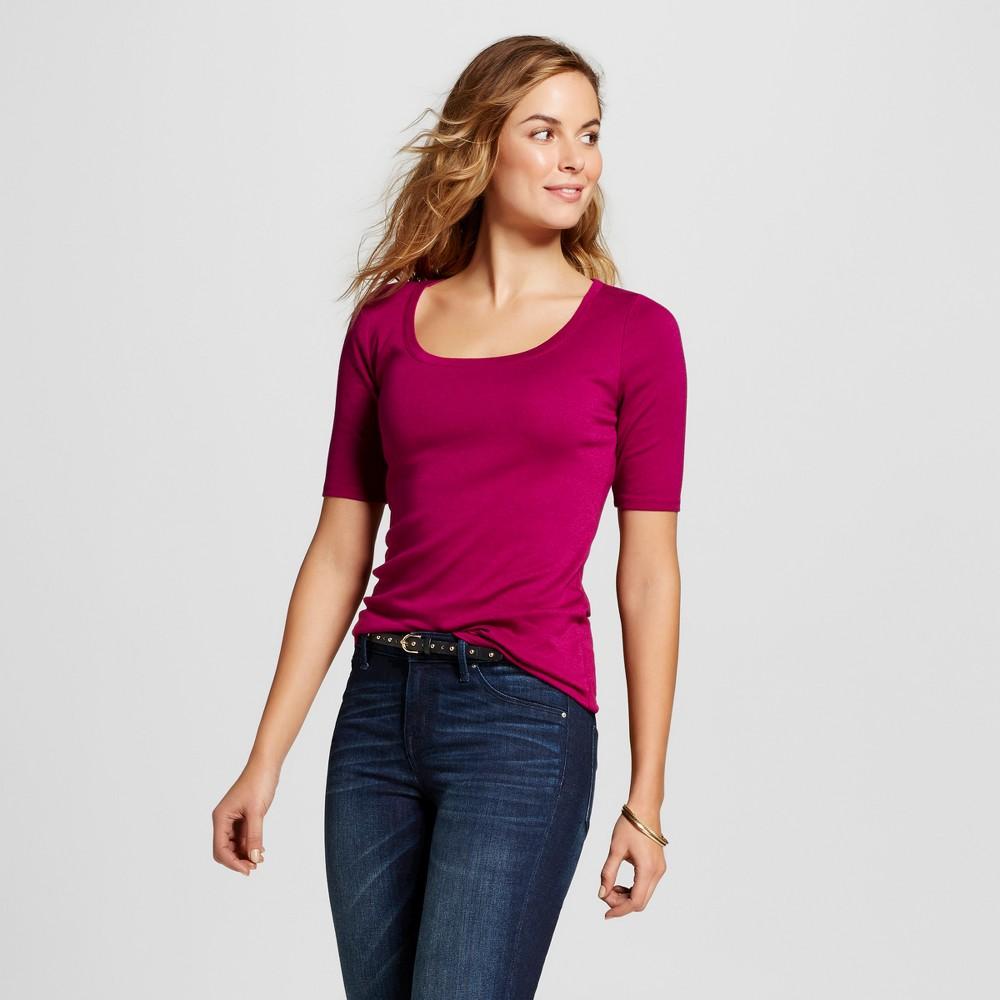 Women's Ultimate Elbow Scoop Tee - Merona Haywire Purple XS