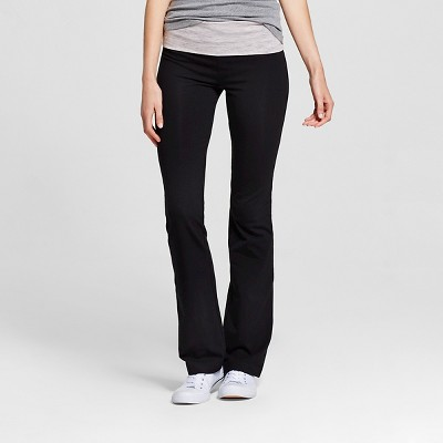 Women's Foldover Waist Bootcut Yoga Pants - Mossimo Supply Co.™ Black/Gray M