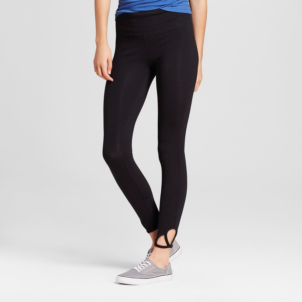 Womens Crop Leggings with Clover Cut Out Black M - Mossimo Supply Co.