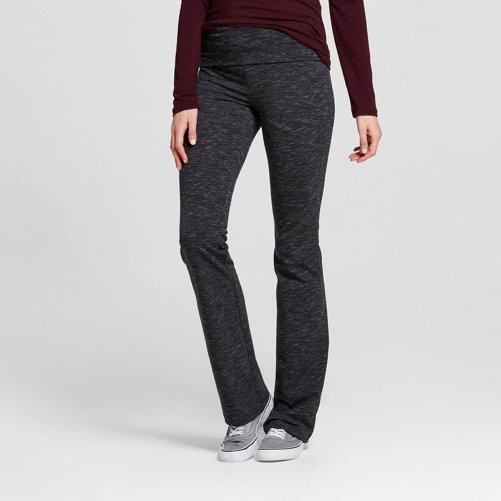 Women's Bootcut Pants with Foldover Waistband Charcoal (Grey) L - Mossimo Supply Co.