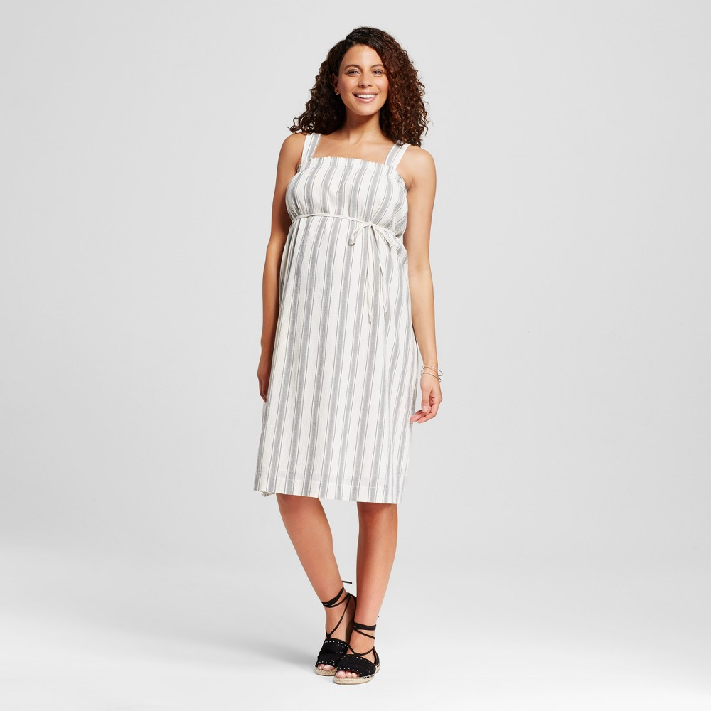 Maternity A Line Striped Dress Gray XL – Liz Lange for Target, Women's