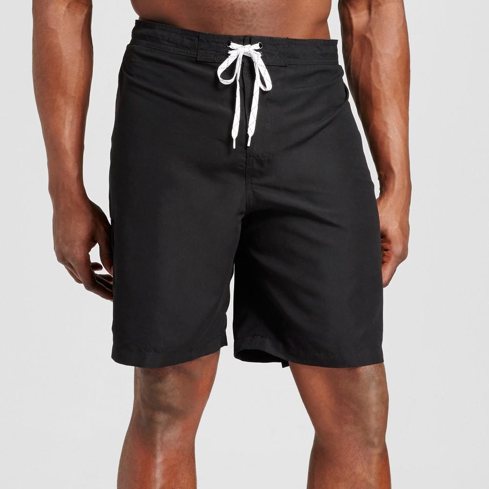 Mens Big & Tall Solid Swim Trunks - Merona Black 3XB