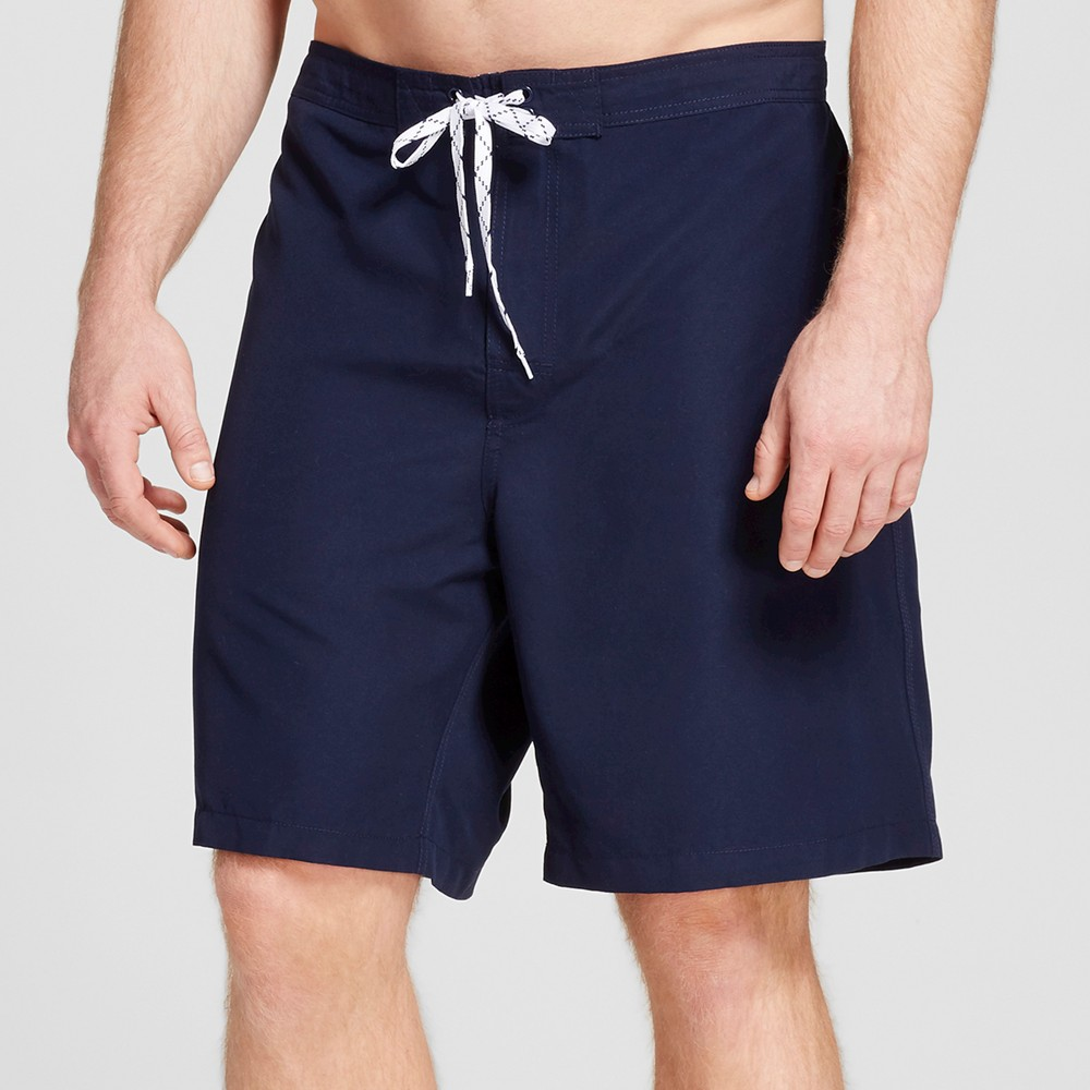 Mens Big & Tall Solid Swim Trunks - Merona Navy (Blue) 2XB