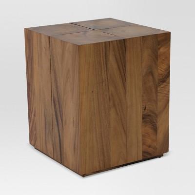 Gill Wood Endgrain Accent Table   Threshold™