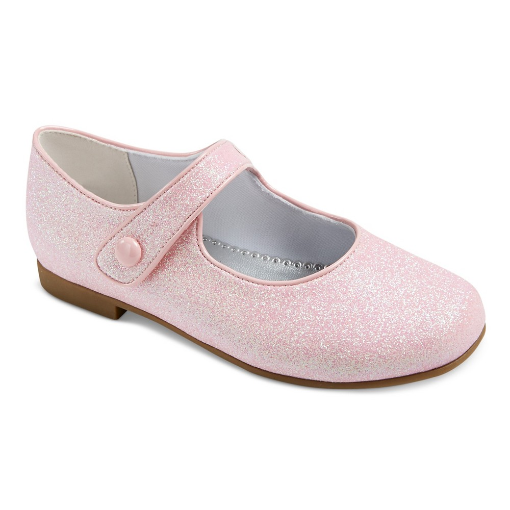 Girls Halle Dressy Mary Jane Shoes Pink Glitter 2 - Rachel Shoes