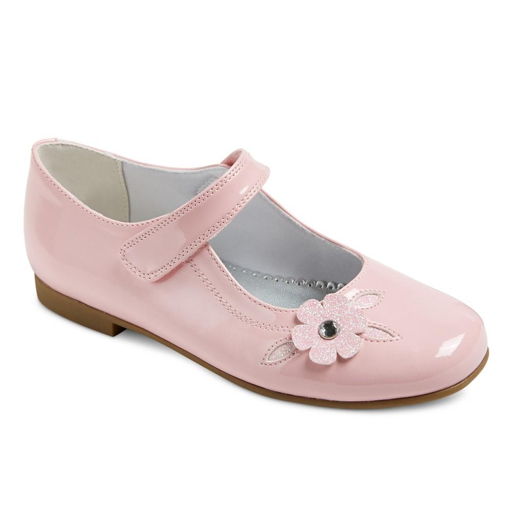 Girls Charlene Dressy Mary Jane Shoes Pink Patent 12 - Rachel Shoes