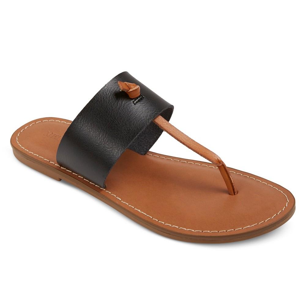 Womens Malia Thong Sandals - Merona Black 7.5