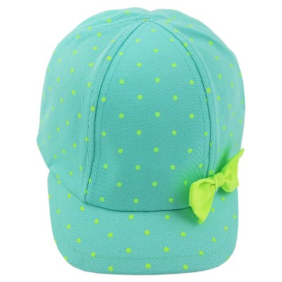 Toddler Girls' Dot Baseball Hat with Bow Cat & Jack™ - Blue 2T-5T