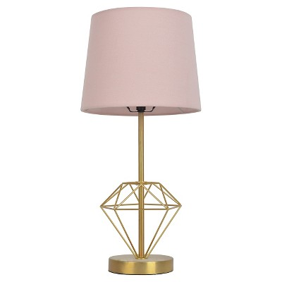 Wire Diamond Table Lamp Gold (Includes CFL Bulb)- Pillowfort™