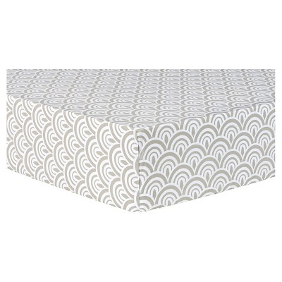 Trend Lab Fitted Crib Sheet - Gray Art Deco Scallop