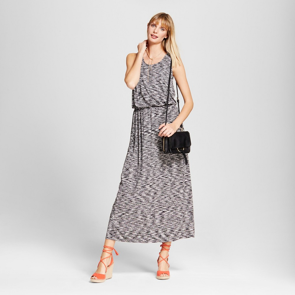 Women's Maxi Dress – Merona Black/White XS