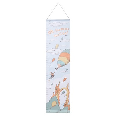 Dr. Seuss by Trend Lab Canvas Growth Chart - Oh, the Places You'll Go!
