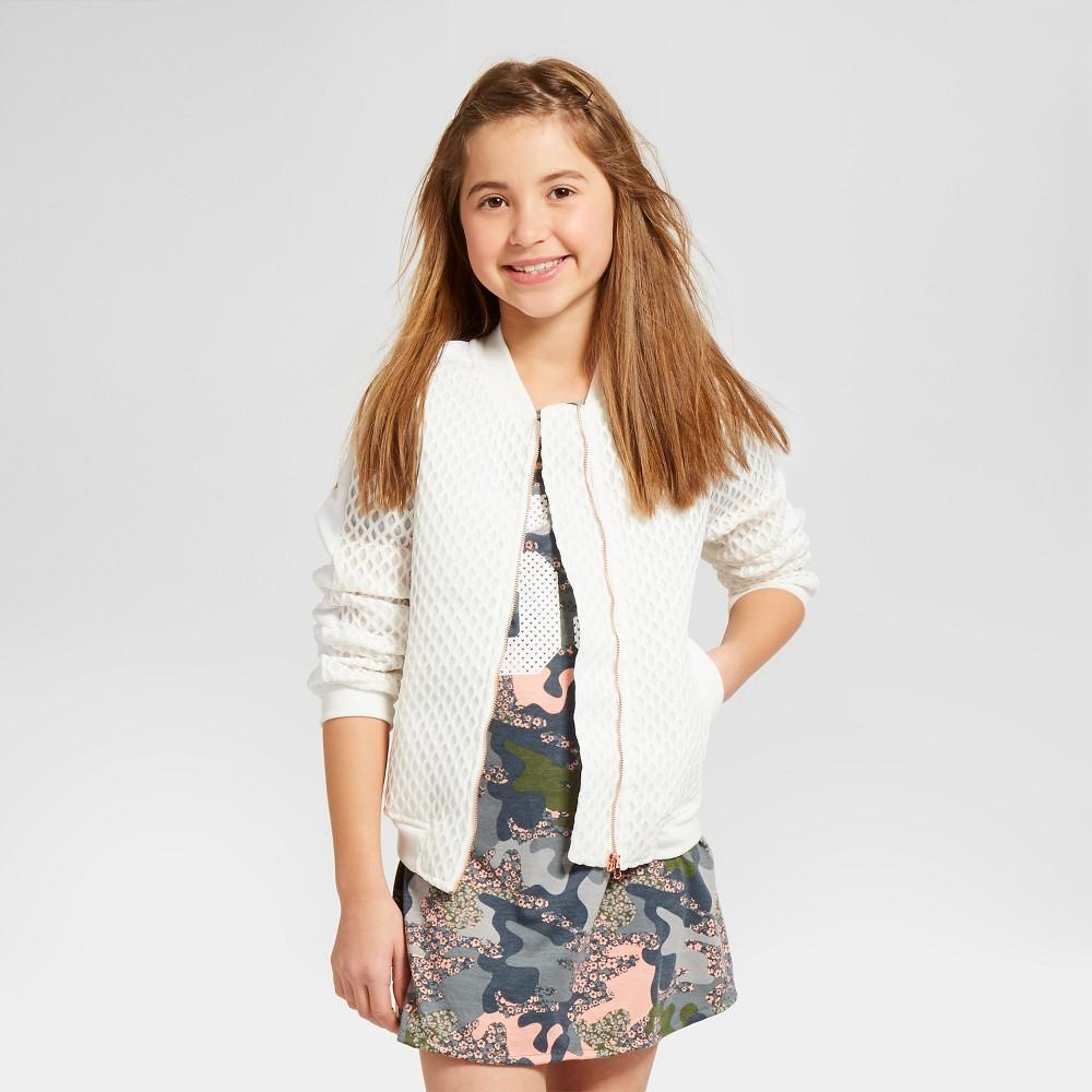 Girls' Bomber Jacket Art Class – White XS, Girl's