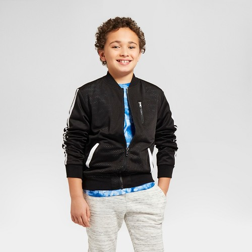 Boys' Mesh Bomber Jackets Art Class Black XL, Boy's
