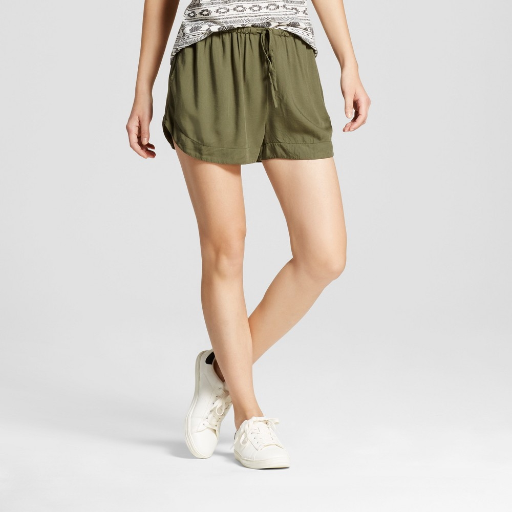 Womens Easy Casual Shorts - Mossimo Supply Co. Olive (Green) L