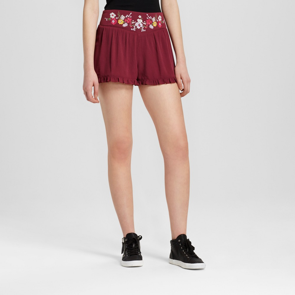 Womens Soft Shorts High Rise - Mossimo Supply Co. Burgundy (Red) L