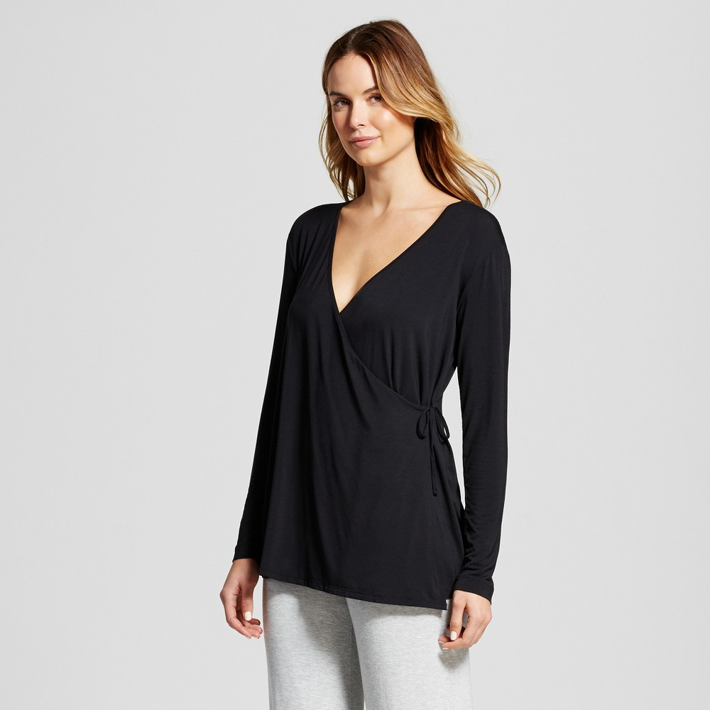 Maternity Nursing Wrap Top - Black S, Womens