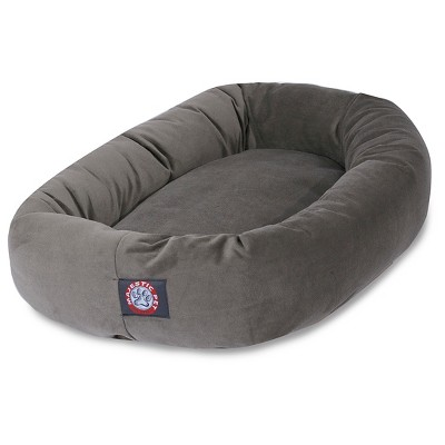 Majestic Pet® Suede Bagel Dog Bed - Gray - 52