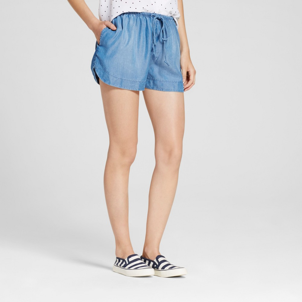 Womens Easy Casual Shorts - Mossimo Supply Co. Denim (Blue) S