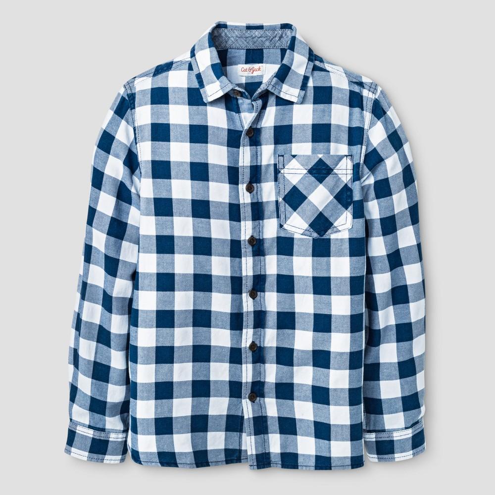 Boys Button Down Shirt - Cat & Jack Indigo Xxl, Blue