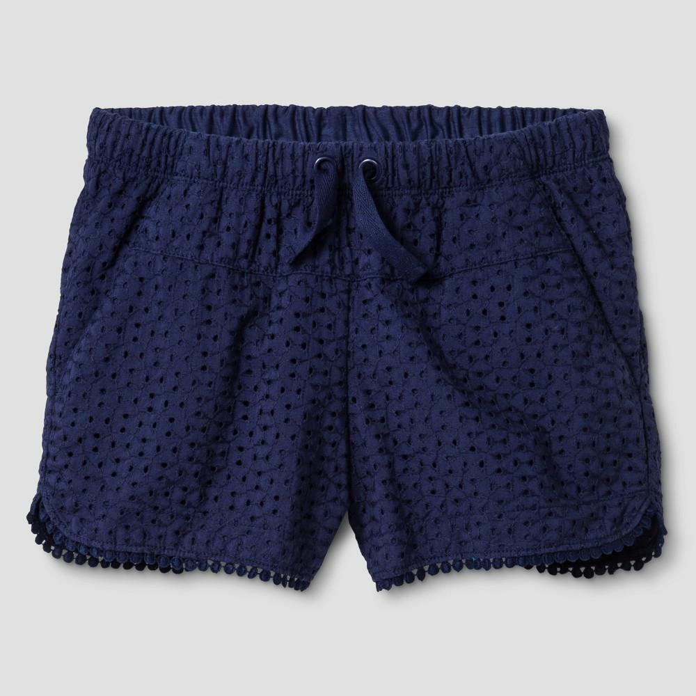 Plus Size Girls Eyelet Shorts - Cat & Jack Navy (Blue) L Plus